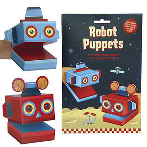 Create Your Own Robot Puppets Activity Kit - toys & games