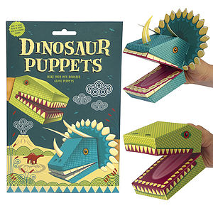 Create Your Own Dinosaur Puppets Activity Kit - toys & games