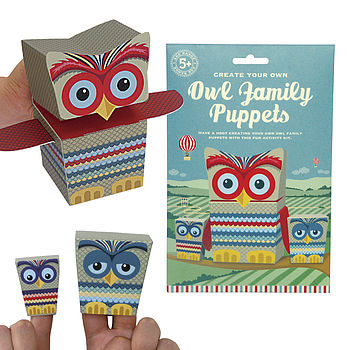 Create Your Own Owl Family Puppets Kit