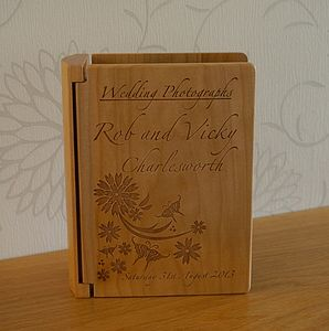 Personalised Wooden Wedding Photo Album