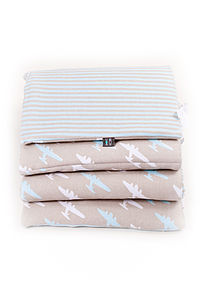 Oyster Plane Cot Bed Bumper And Sheet Set