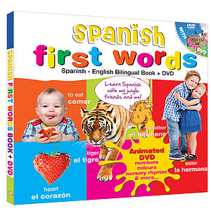 Spanish For Kids Bilingual Book And Free Dvd - books