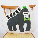 Personalised Children's Handprinted Gorilla Cushion
