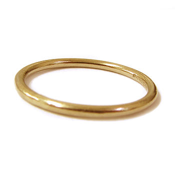18ct Solid Yellow Gold Stacking Ring