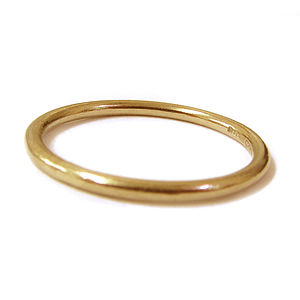 18ct Solid Yellow Gold Stacking Ring - rings