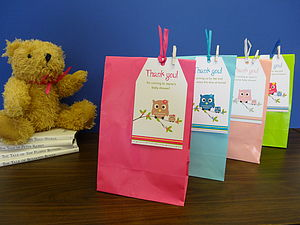 Set Of Eight Baby Shower Party Bags - baby shower gifts