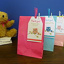 personalised baby shower party bags and tags
