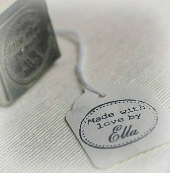 'Made With Love By' Personalised Stamp