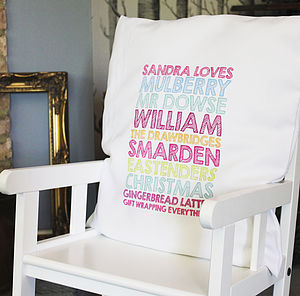 Personalised Cushion Cover - personalised cushions