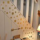 Christmas Gold Stars Wall Sticker Set