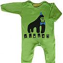 Personalised Handprinted Gorilla Babygrow