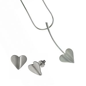 'Love Grows' Silver Heart Jewellery Set - jewellery