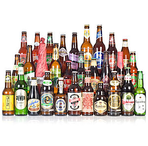 30 Craft Beers And Lagers And Tasting Glass - wines, beers & spirits