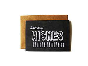 'Birthday Wishes' Chalkboard Card