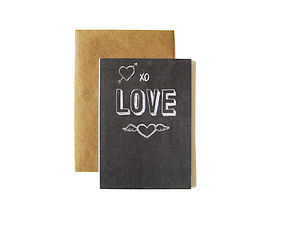 'Love' Chalkboard Card - valentine's cards