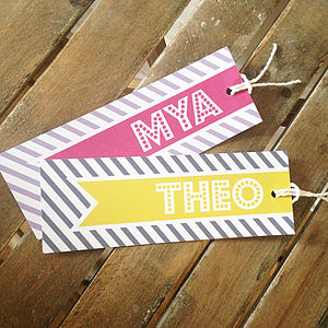 Personalised Retro Name Bookmark - shop by recipient