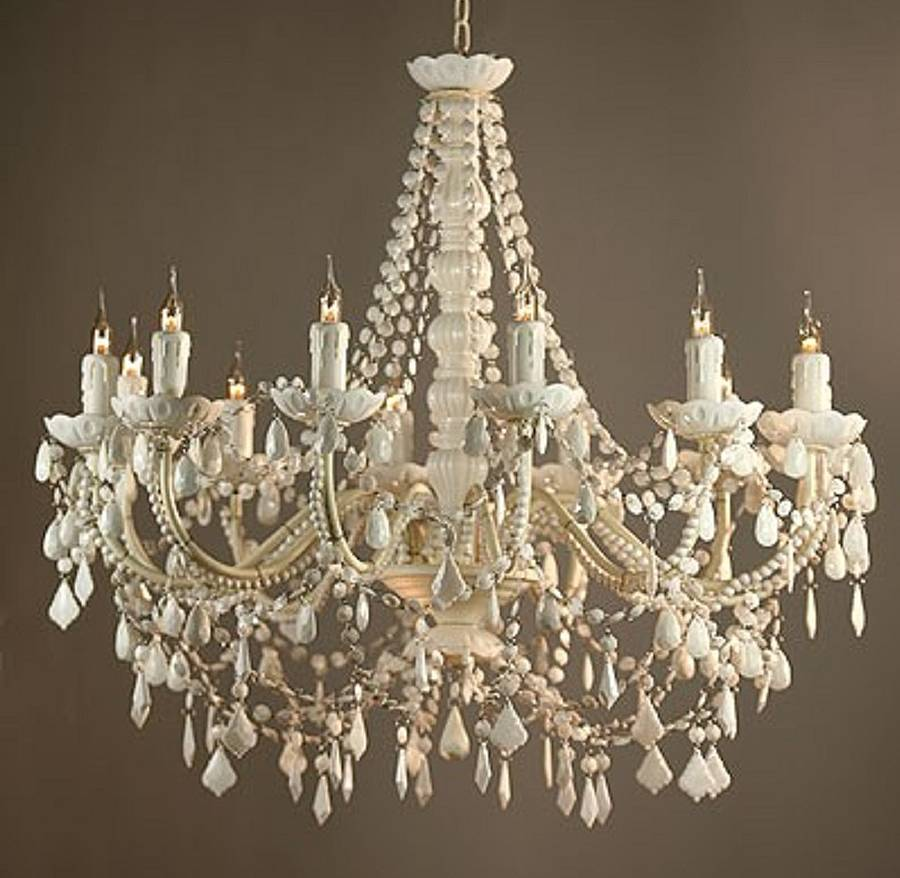 White Chandelier Viewing Gallery