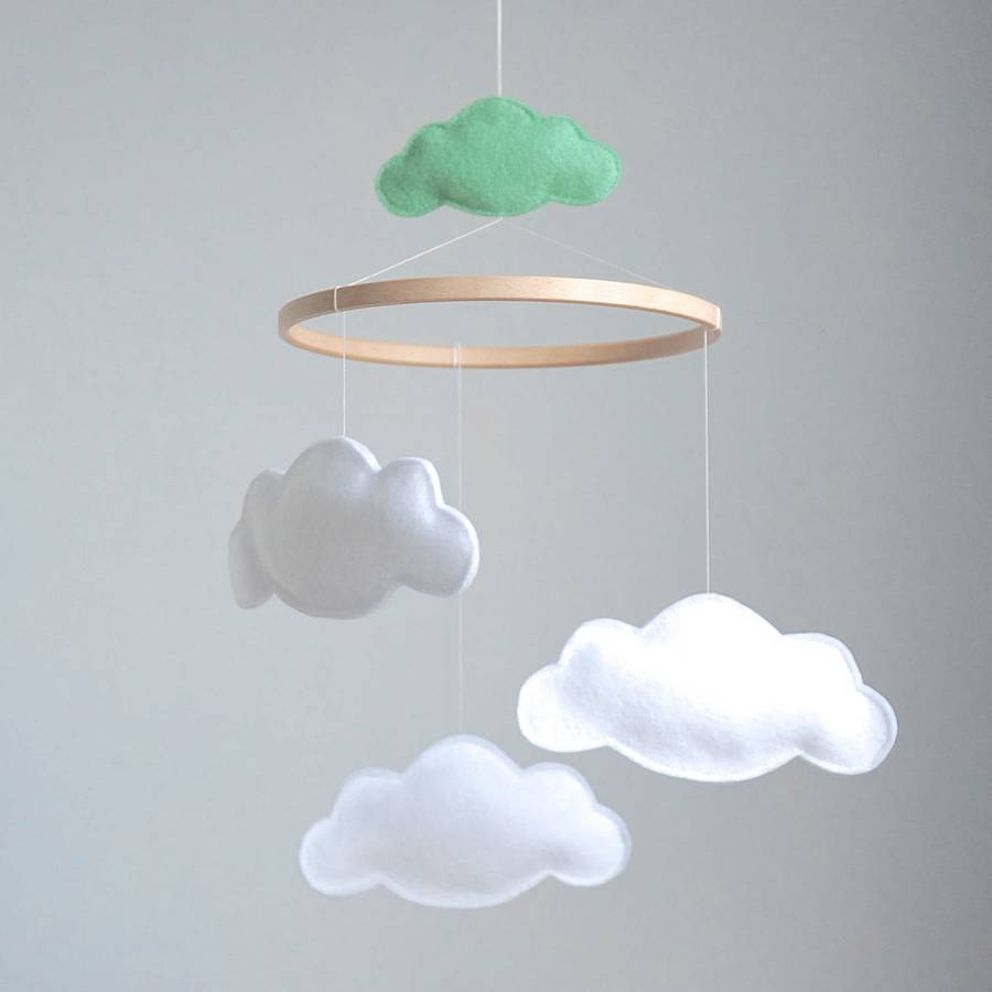 Personalised Multi Cloud Baby Mobile By Littlenestbox