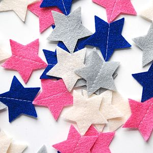 Personalised Felt Star Garland - children's parties