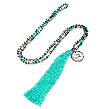 Mother's Personalised Tassel Charm Necklace