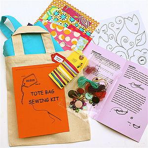 Fun Tote Bag Sewing Kit - creative kits & experiences