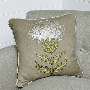 Harris Tartan Thistle Cushion - cushions