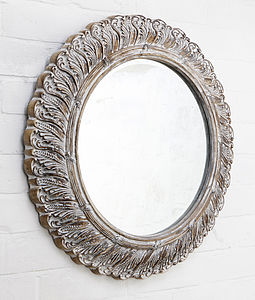 Circular Ornate French Mirror