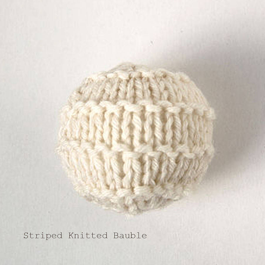 personalised cosy knitted christmas bauble by laura long notonthehighstreet...