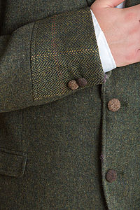 Men's Khaki Tweed Jacket - coats & jackets