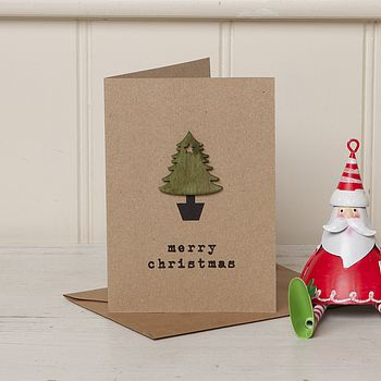 Festive Nordic Style Christmas Tree Card