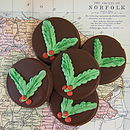 Five Chocolate Christmas Tree Decorations
