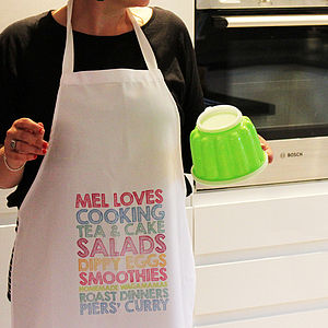 Personalised Adult Apron - kitchen