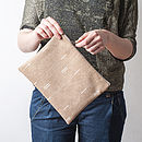 Stripes Brown Pouch