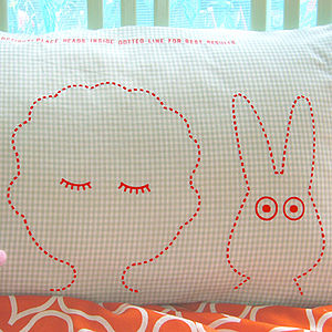Gingham Sleepyhead Pillowcase - children's room