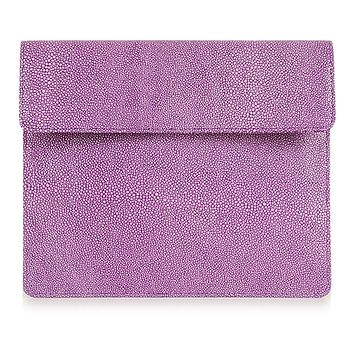 Stingray Printed Leather Clutch For iPad