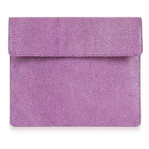 Stingray Printed Leather Clutch For iPad - clutch bags