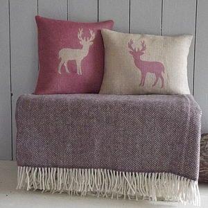 ' Deer ' Cushions And Throw Collection - throws, blankets & fabric