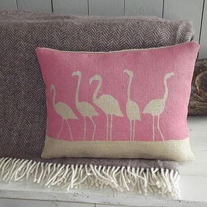 ' Flamboyance Of Flamingos ' Cushion And Throw - blankets & throws