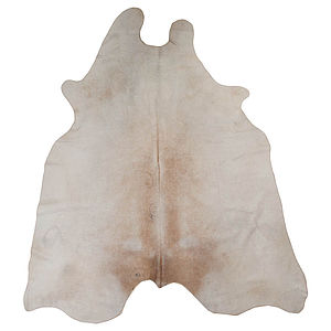 Cow Hide Cream - rugs & doormats