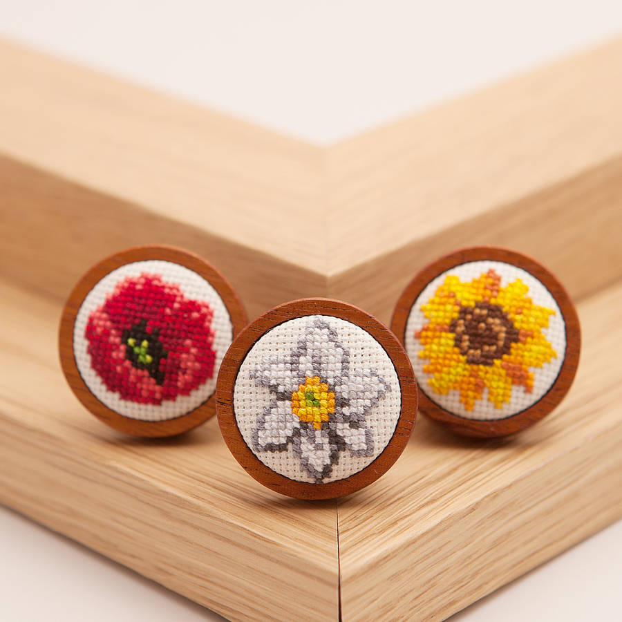 Hand Embroidered Sunflower Necklace