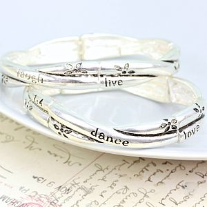 Live Laugh Love Twisted Bangle - bracelets & bangles