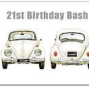 Vw Beetle Birthday Guest Book