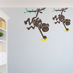 Personalised Monkey Wall Sticker