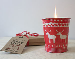 Scandinavian Christmas Candle - tableware