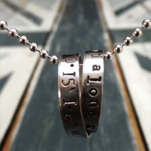 Personalised Men's Rumours Necklace - for your other half