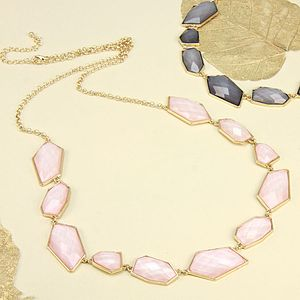 Irregular Gem Necklace - statement necklaces