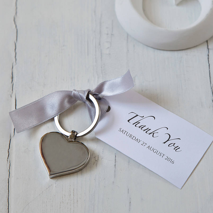 Attractive wedding rings: Key rings wedding favors
