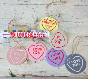 Loveheart Sweet Gift Tags - room decorations
