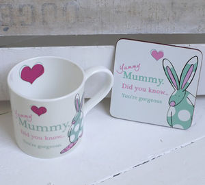 Yummy Mummy Mug And Coaster - placemats & coasters