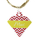 Personalised Pet Id Diamond Tag Chevron